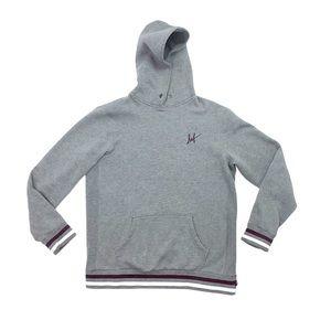 Huf street wear urban grey hoodie sweater